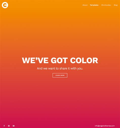 theme colors themes by organic themes premium free