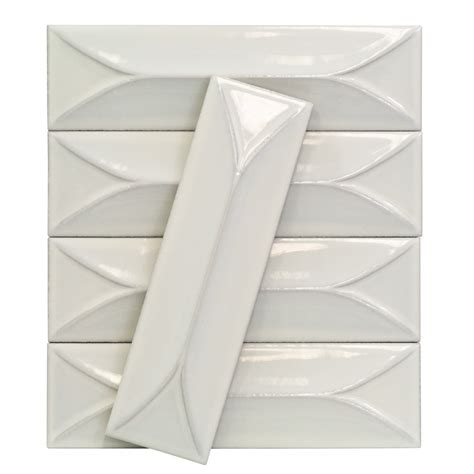 Large Tile Kitchen Backsplash Byzantine Bianco 3d Ceramic Tile