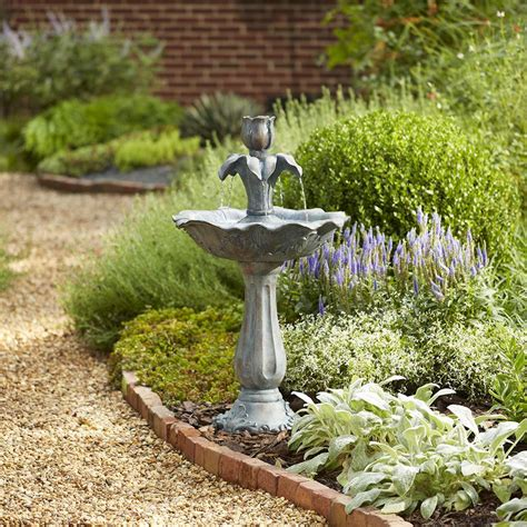 shop garden treasures   fiberglass tiered fountain