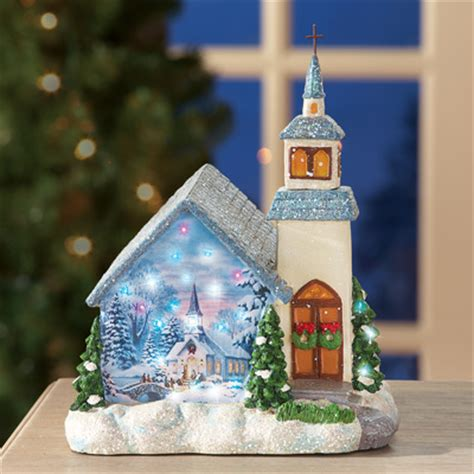 fiber optic led lawn christmas ornament miniature fiber optic church decoration from collections etc