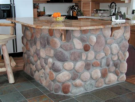 Stone Kitchen Island by 10 Elegant Examples Of Interior Stone Veneer