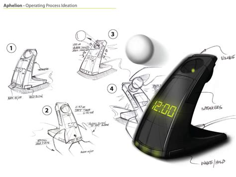 Hybrid Alarm Clock Concept by Aphelion Alarm Clock Redesign By Corey Harris At
