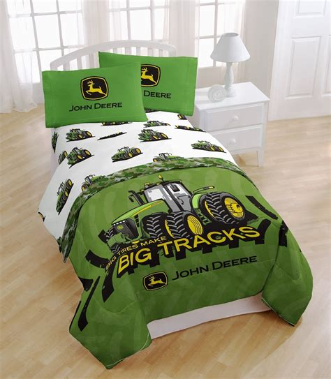 tractor bedding set john deere big tracks twin sheet bed set green big tractor farm kids boys new ebay