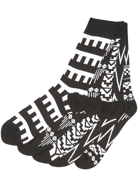 sock black and white black and white patterned socks yes s fashion
