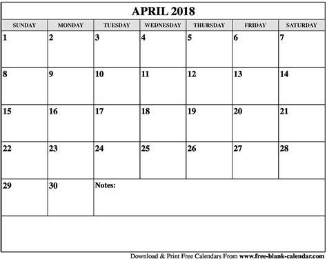 printable calendar 2018 april blank april 2018 calendar printable