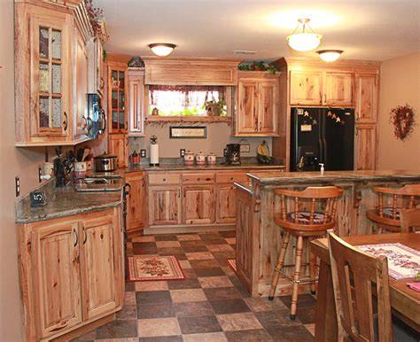 hickory kitchen cabinets natural characteristic materials