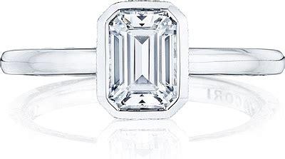 section 2ec tacori bezel set emerald cut diamond engagement ring 300 2ec