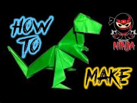 tutorial origami t rex how to make origami t rex john montroll youtube