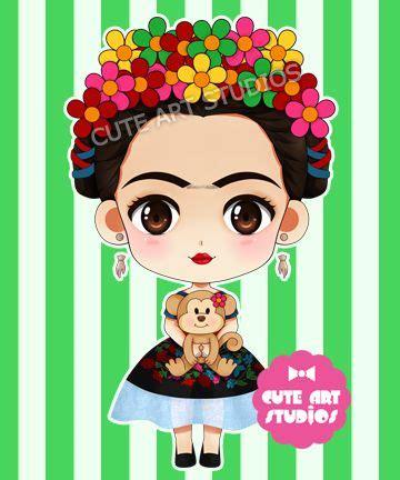 imagenes de frida kahlo kawaii resultado de imagen para frida kahlo dibujo caricatura