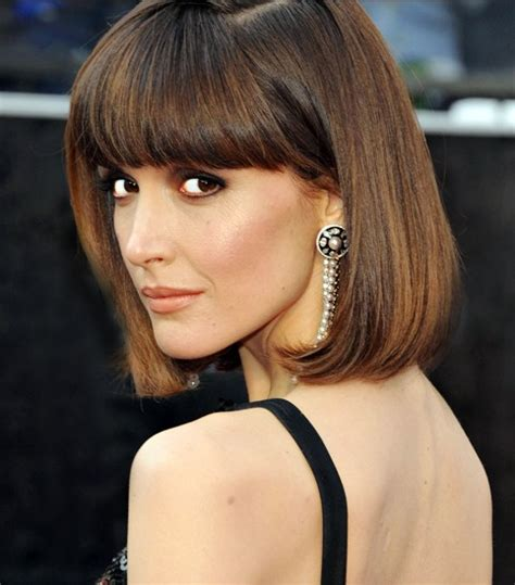 long thick hair blunt bangs 2014 hairstyle ideas chic bob hairstyle with blunt bangs