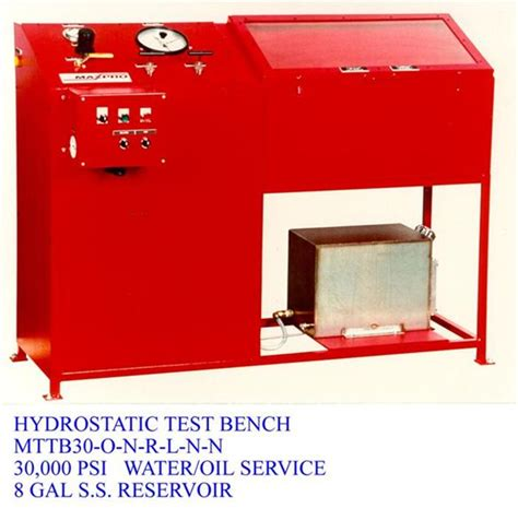 hydrostatic test bench mtpp30 o n r l n n hydrostatic test bench 30 000 psi water or oil service 8gal s s