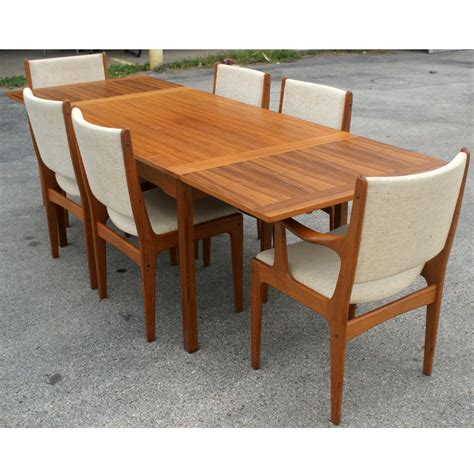 Teak Table And Chairs by Style Solid Teak Expandable Dining Set Ebay