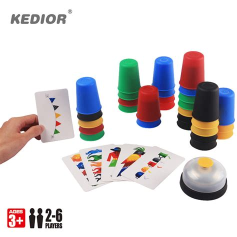 Speed Cups 2 6 players family board speed cups stacking