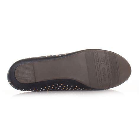 Connexion Flat Shoes Navy ballet boots les bons plans de micromonde