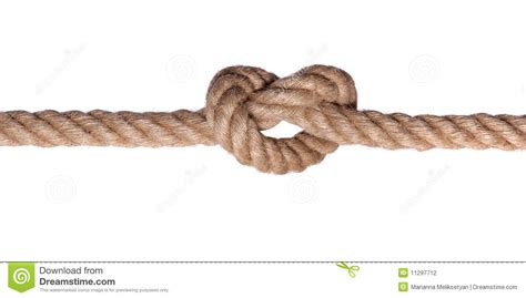 String Knotting - rope knot such a isolated stock photo image 11297712