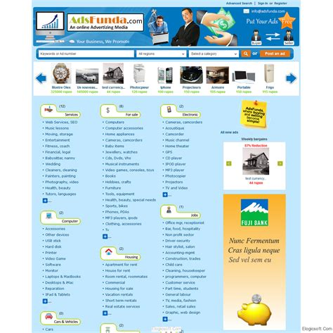blogger templates for classified ads classified ads template in wordpress kooltemplate com