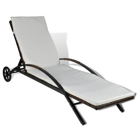 bed backrest sun bed with cushion adjustable backrest brown vidaxl com
