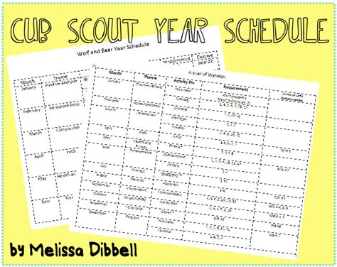 scout calendar template plan the best year for your cub scouts the boy