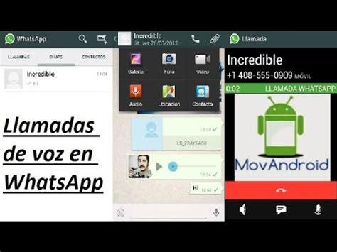 tutorial activar llamadas whatsapp full download activar llamadas de voz en whatsapp