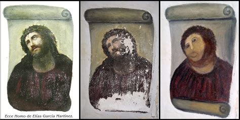 ecce homo spanish edition vandalism or restoration the volunteer