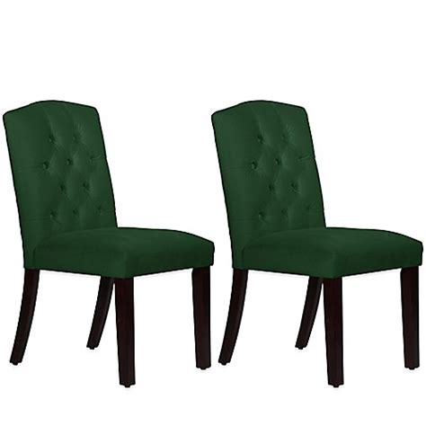 velvet tufted dining chairs buy skyline furniture tufted arched dining chairs