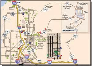 Ogden Utah Map by Ogden Utah Travel Pal International