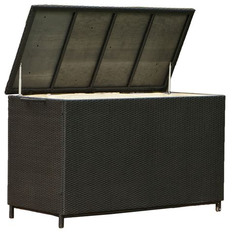 Patio Storage Furniture Outdoor Patio Large Wicker Storage Ottoman Modern Patio Furniture And Outdoor Furniture By