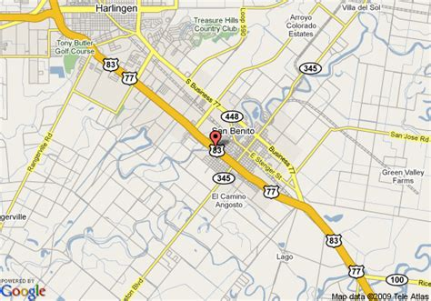 san benito texas map map of days inn sana benito san benito