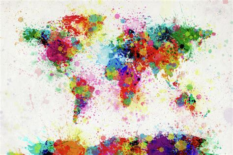 colors of the world beautiful world maps by michael tompsett