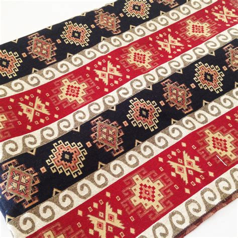 traditional tribal style upholstery fabric tapestry