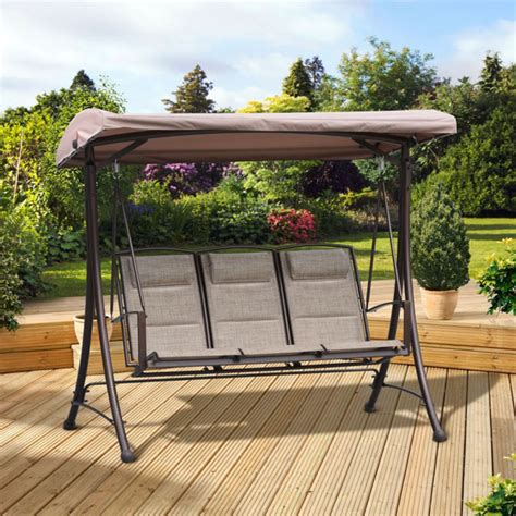 pagoda swing seat pagoda rio padded 3 seater swing seat next day delivery