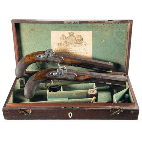 dueling pistol set manton and set of percussion dueling pistols for