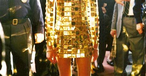 francoise hardy gold dress 1968 francoise hardy wearing a paco rabanne jewel dress