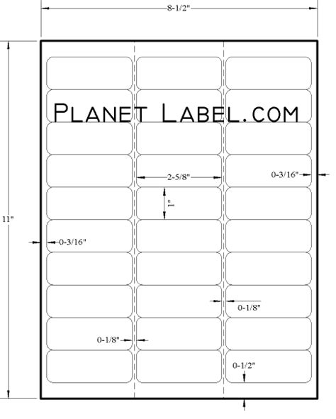 Free 5160 Label Template avery labels 5160 free template