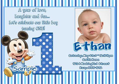 Baby Boy 1st Birthday Invitation Templates Cloudinvitation Com Baby Boy Birthday Invitation Template