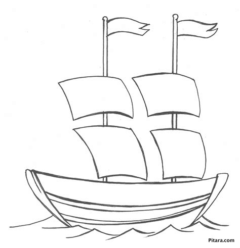 boat coloring pages for toddlers sail boat coloring page pitara kids network