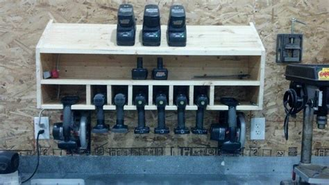 Bathroom Closet Ideas by Cordless Drill Storage And Charging Station Diy Projects