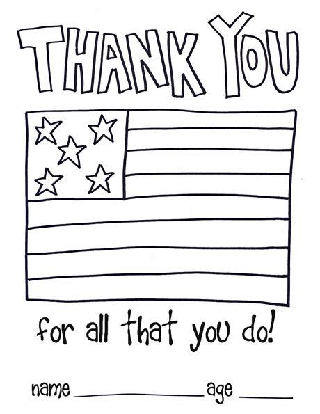 Cards For Veterans Template by Make A Thank You Card Here S A Card Template For Children