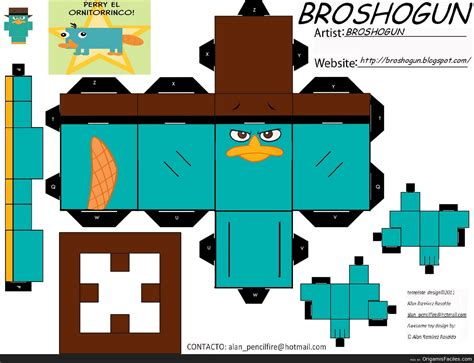 What Is Paper Craft - origamis y papercraft perry el ornitorrinco papercraft