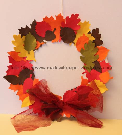 paper leaves craft autumn accents made with paper