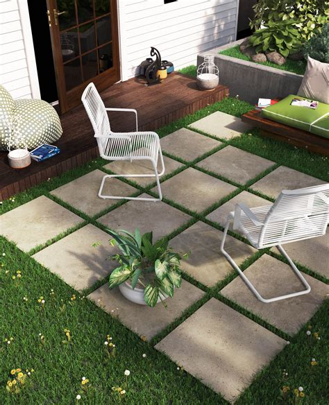 inexpensive outdoor patio ideas outdoor patio sitting area with porcelain patio stones