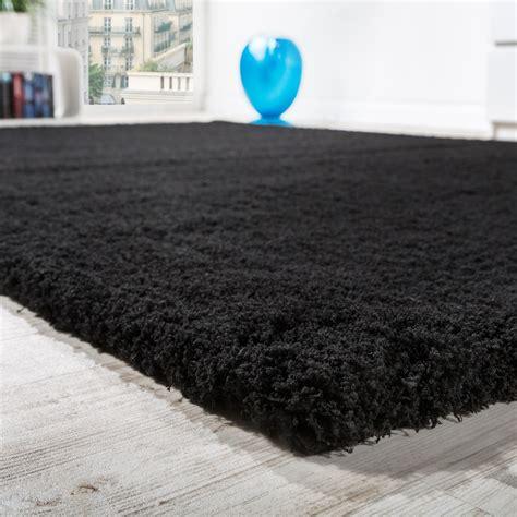 teppich rund schwarz shaggy teppich micro polyester wohnzimmer teppiche
