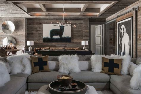 ski in ski out chalet in montana with rustic modern styling