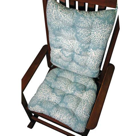 rocking chair pad set ariel sea fan coral rocking chair cushion set
