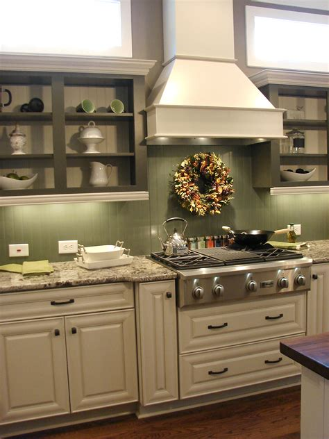 green and white kitchen cabinets beadboard backsplash in a high gloss paint either white