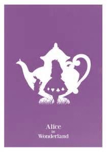 alternative alice in wonderland minimalist art print art