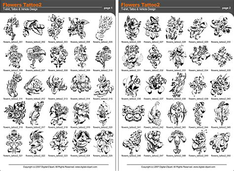 tattoo catalogue pdf flowers tattoo 2 extreme vector clipart for professional