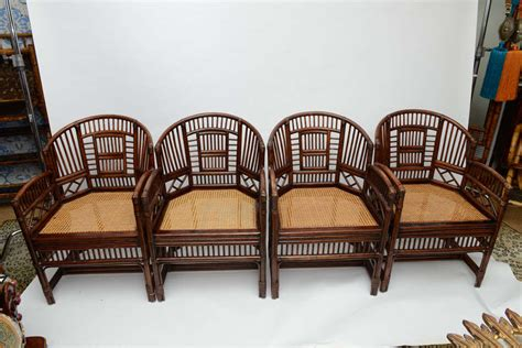 two pairs of vintage bamboo rattan barrel chairs at 1stdibs