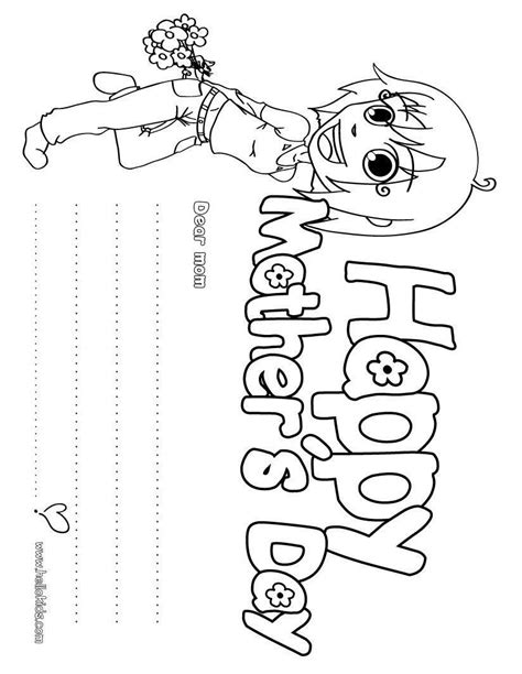 Mothers Day Coloring Pages Free Large Images Day Coloring Pages