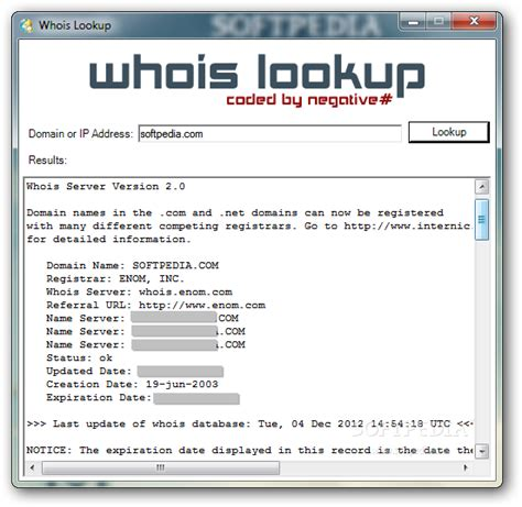 Ip Lookup Whois Lookup Softpedia